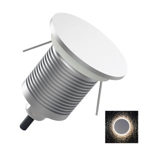 1W Moon Light Wall Lamp Outdoor Stair Light DC12-24V Wall Corner Lamp Recessed Step Staircase Corridor Lighting