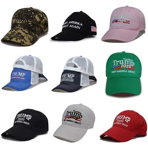 New Trucker Trump Cap Adult Mesh Ball Trump Caps Blank Snapback Hats Accept Custom Baseball Trump Cap For Adult Sun Hat Snapbacks Custom #506