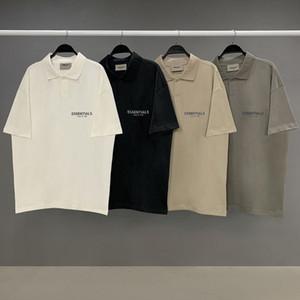 Temor de Dios camisas de polo T esencial stand-up casual de negocios polo de los hombres de cuello de solapa mujer de gran tamaño de las camisetas de manga corta niebla streetwear
