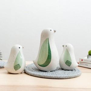 Nayachic Nordic Estilo Pássaro Ceramic Ornaments desktop Crafts estátua Pássaro casamento Escritório presente Início Decoração TNjg #