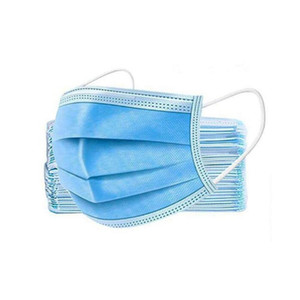 Cover Mask Dust 3 Non-woven Masks Dust 3-Ply Ear-loop Ovaa Fast Disposable Mou Soft Fa Ship Breathable Masks Disposable Layer Part Outd Fhjo