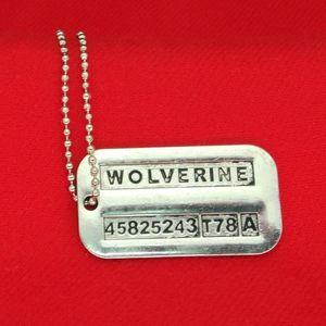 X-Men Charm Dog Tag Colliers Chain American Perle populaires et Colliers Wolverine Pendentifs Vintage Silver Series européenne de zju