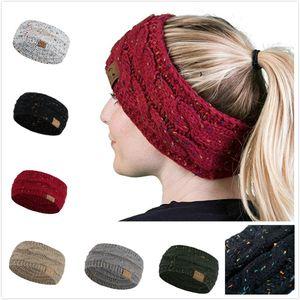 Женщины Вязать ободки лента для волос Защита Спорт Зима волос полоса Сыпучие headbnads 22cmX11cm 40г
