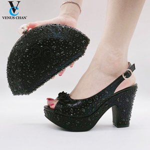 Slingback Heel for Women Nigerian Bag and Shoe Set Italian Shoes and Bag To Match Wedding Party Designer Shoes Women Luxury 2020