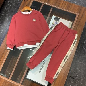 Children's clothing boys' girls' new fashion two piece Casual long Sleeve pants letter printing set