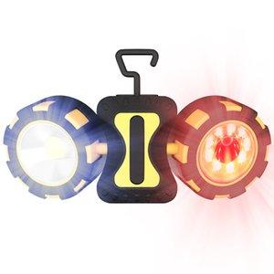 VastFire COB trabajo ligero al aire libre gancho magnético inspección del coche lámpara de la noche LED que acampa claro Sin batería