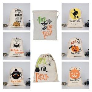 new Halloween Candy Bag handbag Canvas bag pumpkin party Gift Wrap Drawstring Gift Bags Halloween Decoration T2I51502