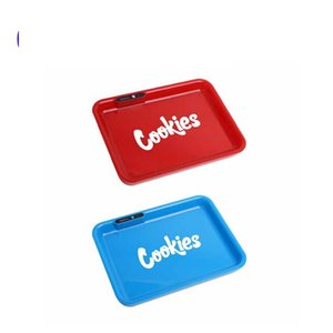 Cookies SF California Glowtray Blue Red LED Cookies Rolling Glow Tray Yellow Purple Runtz Packaging Paper Box Rolling