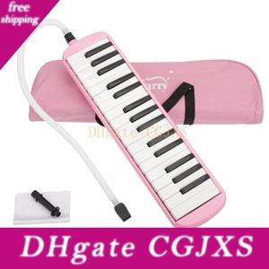 Yeni 32 Anahtar Melodica ile Blowpipe Oral Boru İçin Öğrenci Mızıka Çocuk Oyuncakları Müzik Aletleri Pembe