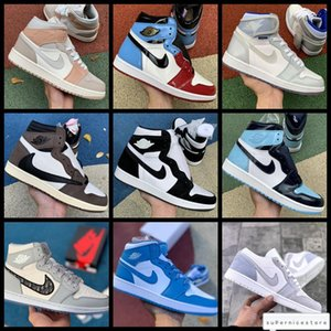 Nike air jordan retro 1 Oblique High Top Women Basketball Shoes Travis Scotts 1 Trainers 1s OG Mid Milan TWIST Mens Luxury Nakeskin Jordan 5 Sneakers 11
