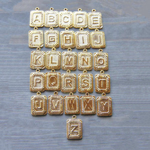 26pcs lot A -Z 26 Letter Copper Pendant for DIY Jewelry 26 letter for Necklace