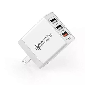 3 Ports Universal Travel USB Wall Charger 30W Portable Quick Charge QC 3.0 Fast Charger Wall Adapter Compatible For iPhone iPad