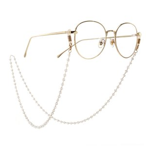 mode d'or Nonskid perles perles faits à la main Voyage antidérapante chaîne de cristal de la chaîne des yeux lunettes de soleil de Sun pmfEw