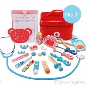 Kids Wooden Toy Pretend Play Doctor Set Nurse Injection Medical Kit Role Play Educational Simulation Doctor Kids Toys Children Gifts