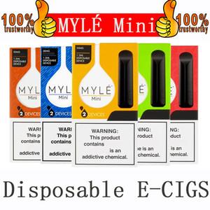 Myle Mini Одноразовые Vape Pen 320Puffs Одноразовая Hyde 280mAh Аккумулятор 1,2 мл Pre-Filled Vape Бобы Одноразовые электронные сигареты Местные vapes