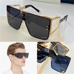 Nueva moda y el diseño popular de gafas de sol de gran tamaño del marco 102B con patillas rectas, diseño capucha oculta, estilo de moda y de alta calidad