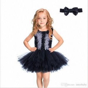 Kids Clothes Girls Sequins Tulle Dress Evening Princess Dress Bridesmaid Pageant Dresses Summer Tutu Dress Mermaid Hairband Costume BY 6O58#