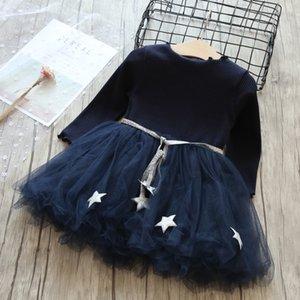 3-8 лет Девочки Дети Sling Детские платья для девочек Трикотаж Хлопок Mesh Vest балета Туту платье лето девушки Повседневная одежда