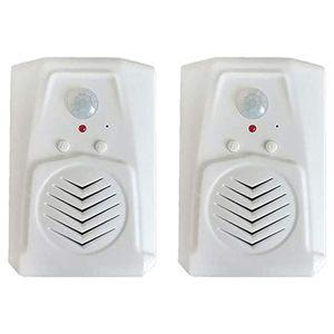 2Pcs Sensor Motion Door Bell Switch Infrared Doorbell Wireless PIR Motion Sensor Voice Prompter Welcome Entry Alarm