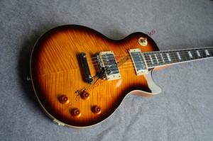 Ebony Yip elektrik gitar G standart tek parça odun boyun fingerboard ve vücut akçaağaç ahşap Alevli, ücretsiz nakliye