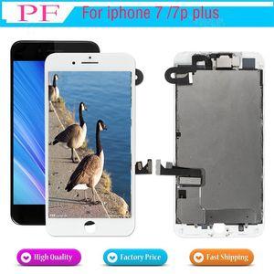 Cgjxs Full Set LCD für Iphone 07.07 Plus-LCD-Screen Display Digitizer Touchscreen komplette Montage mit Hauptknopf Frontkamera zurück Platte