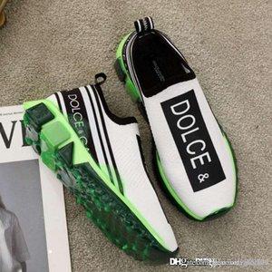 Tamaño de calidad superior zapatillas de deporte de las nuevas mujeres zapatillas en Tejidos Elásticos con zapatos de diseñador del logotipo de lujo de los hombres de 35-46 CS1595AK2358D909