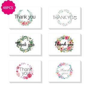 Vielen 48pcs Sie Karten und Umschläge, Blumen Blank-Grußkarten für alle Gelegenheiten