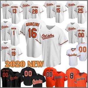 2020 جديد البيسبول جيرسى أوريولز 8 كال ريبكين الابن 16 كريس ديفيس 1 تيم بيكهام 12 روبرتو Alomar 10 آدم جونز إدي موراي