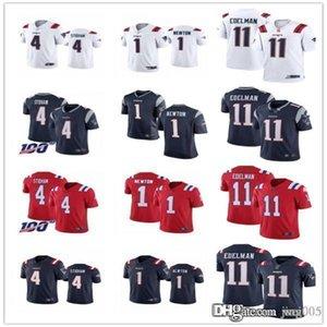 Womens Juventude MensNew Englandspatriotas11 Julian Edelman 4 Jarrett Stidham 1 Cam Newton costumes Football Jerseys