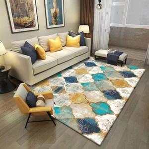 Marocan Alfombra Sala de estar Geométrico Turco Decoración Hogar étnico Pequeñas alfombras Coloridas Boho Dormitorio Confijos Lavadora Mots Mats SXQP #