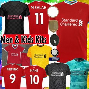 FAST SHIPPING 20-21 Lİverpool FC Kids Home Red Soccer Jersey with Sock 16-28 MANE M.Salah Virgil FIRMINO A.BECKER HENDERSON Football