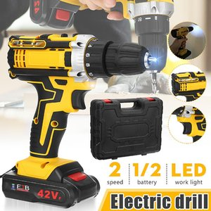 42V Max Electric Cordless Drill Driver Screwdriver Li-Ion Battery LED Light Battery 1 2-Inch 2-Speed