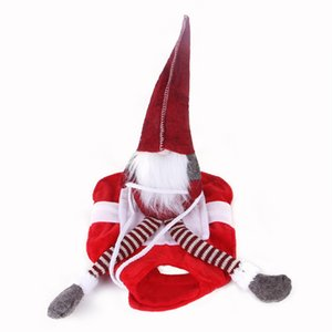 Evcil Noel Binme Kostüm Big Dog Köpek Noel Santa Doll Giyim Kış Noel Binme Cosplay Giyim OWA2336