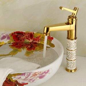 Xinchen torneira Bacia Banheiro pia de ouro torneira bacia banheiro acabado torneira pia torneira misturadora de água quente e fria