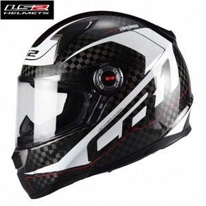 Sıcak Satış Ls2 FF396 Karbon Elyaf Tam Yüz Yarışı Motosiklet Kaskı Capacete Ls2 Casco Moto Kask ECE Sertifikası Erkek Kadın w1Mv #