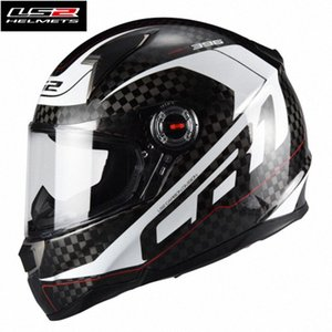Горячая Продажа LS2 FF396 углеродного волокно анфас гоночного мотоцикл шлет Capacete LS2 Casco Moto Helmet ЕС Сертификация Мужчина Женщина w1Mv #