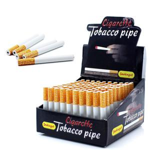 100 pezzi / set metallo in alluminio di alluminio a forma di sigaretta tubi da fumo 55mm 78mm lunghezza tubo portatile tabacco tubo di tabacco acqua Bong
