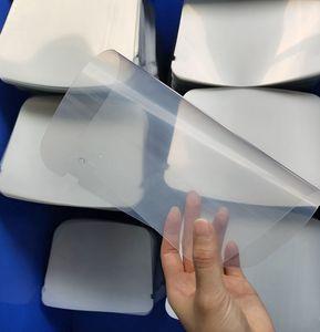 IN stock Face Shield Plastic Film Sheets just sheet Face Visor Reusable Full Face Cover sheets LJJK2470