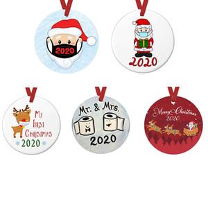 Ornamento di Natale Natale ciondolo albero appeso non-resina di carta regalo decorazione maschera appeso il pupazzo di neve vacanza alce WC PET fai da te uomini