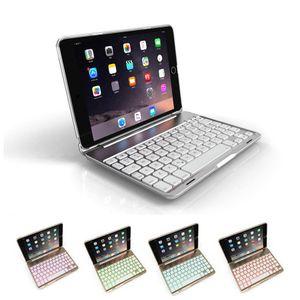cgjxs für Ipad Mini 4 Wireless Bluetooth Tastatur-Kasten-Abdeckung mit Hintergrundbeleuchtung für Ipad Mini 1 2 3 Hüllen aus Aluminium
