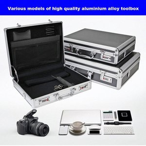 Aluminum alloy tool case portable cipher box Tool safe File box Hardware Equipment Multi-function Large size with lock pvkv#