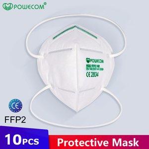 KN95 маска POWECOM CE FFP2 Eu Whitelist Factory Поставка оголовье многоразовый 6Layer Защитный противотуманно пыле высокого качества конструктора Face Mask