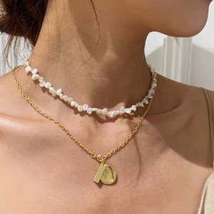 4-5mm Real Natural Freshwater Pearl choker Necklace White Baroque Flower Pearl Jewelry Gifts for Women