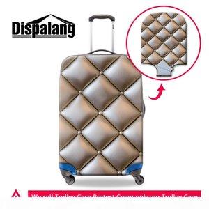 Maleta cubierta de la lluvia del diseño geométrico del equipaje cubierta del equipaje protector personalizado para el caso de la cubierta elástico de las mujeres de la carretilla con cierre de cremallera