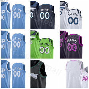Экран печати Баскетбол Таунс Джарретт Калвер трикотажных изделий D Angelo RUSSELL Джейк Layman Джош Okogie Дьенг Мужчина Женщина Молодежь