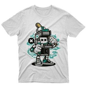 FM10 T-Shirt Spiel auf Videospiele Jahre 90 Bar Console Mazza-Geschenk-Karikatur beiläufigen Druck-Mode-T-Shirt