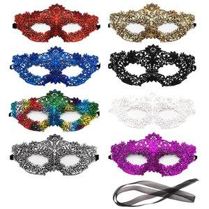Mehrfarbige Spitze-Maskerade-Schablonen-venetianische Kostüm Eyemask Sexy Frau Maske für Halloween Abendkleid des Karnevals DHF1541