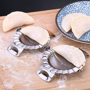 Dumpling Strumenti Jiaozi stampista Eco-Friendly pasticceria in acciaio inossidabile Utensili da cucina pasta Cutter Dumpling Wrapper fa macchina DBC BH3903