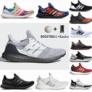 مع جوارب Boostball Ultraboost 3.0 4.0 الاحذية دفعة الترا 19 20 Primeknit المدربين الأسود دخان رمادي وودستوك إمرأة رجل حذاء رياضة