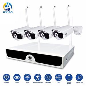 Система беспроводного видеонаблюдения Комплект для видеонаблюдения H.265 8CH NVR 4 камеры Home Security DVR Kit Открытый IP-камеры системы видеонаблюдения камеры